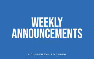 Announcements for the weekend of 10-23-2021