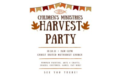 Children Ministries Harvest Party: October 30th